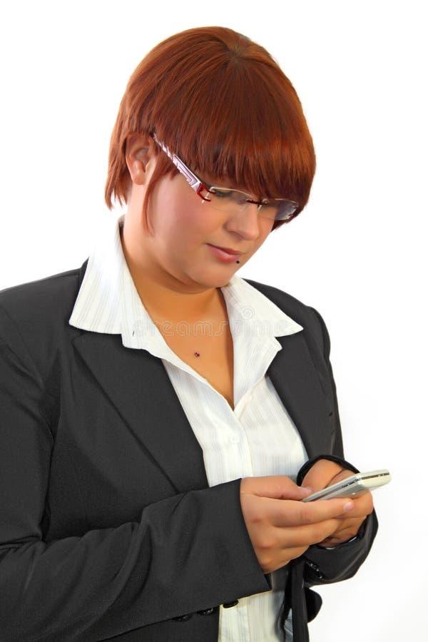 SMS digitante fotografia stock libera da diritti