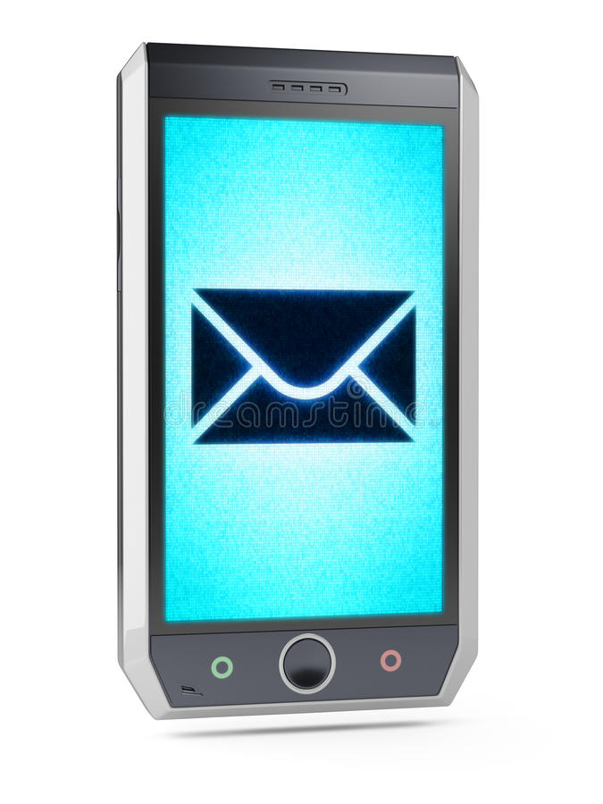 Sms or e-mail. SMS. This is my own design of smart phone royalty free stock photo