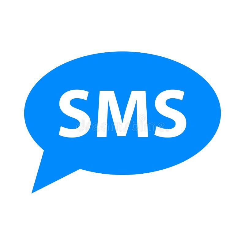 SMS-eenvoudige pictogramvector royalty-vrije illustratie