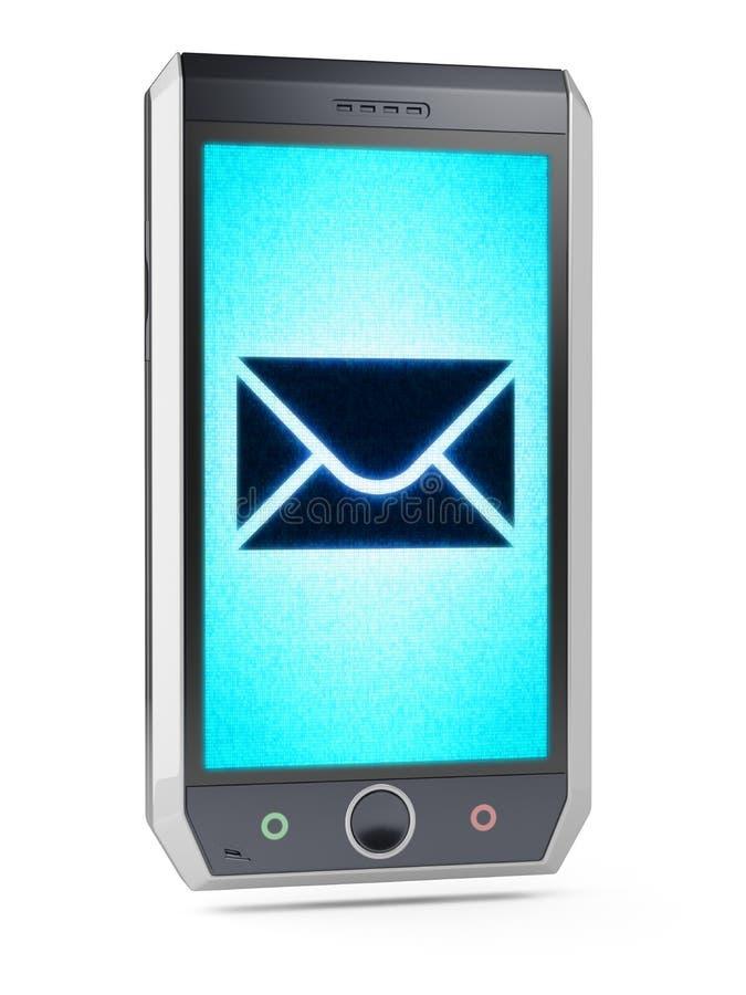 Sms eller mejl royaltyfri foto