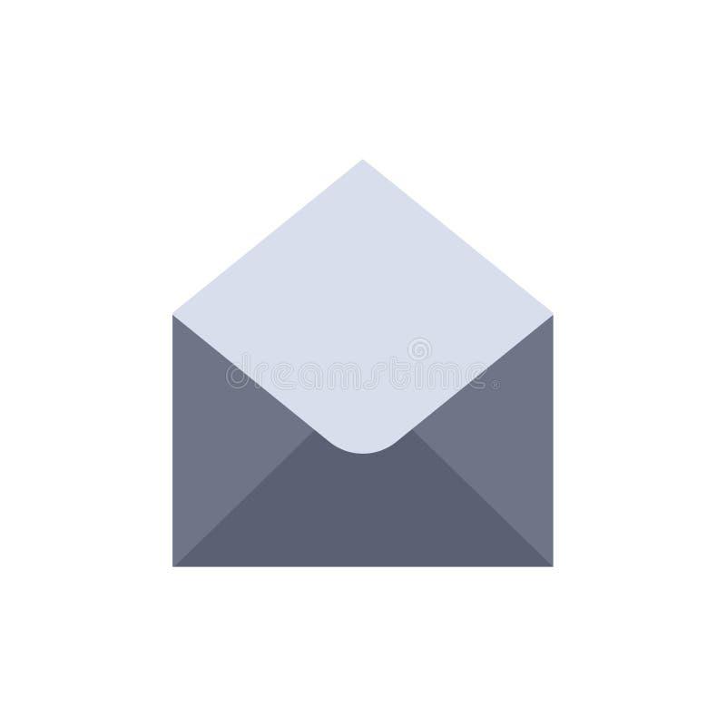 Sms, Email, Mail, Message Flat Color Значок цвета сообщения Шаблон баннера значка вектора иллюстрация вектора