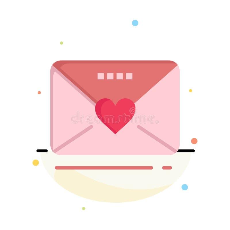 Sms förälskelse, bröllop, hjärtaaffär Logo Template plan f?rg stock illustrationer