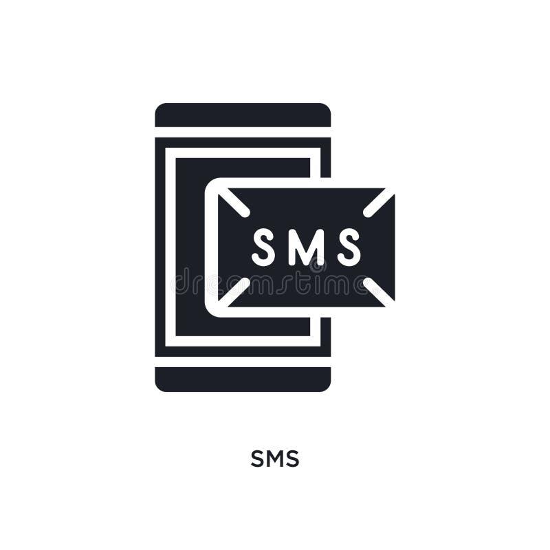 sms geïsoleerd pictogram eenvoudige elementenillustratie van de electrian pictogrammen van het verbindingenconcept sms editable h royalty-vrije illustratie