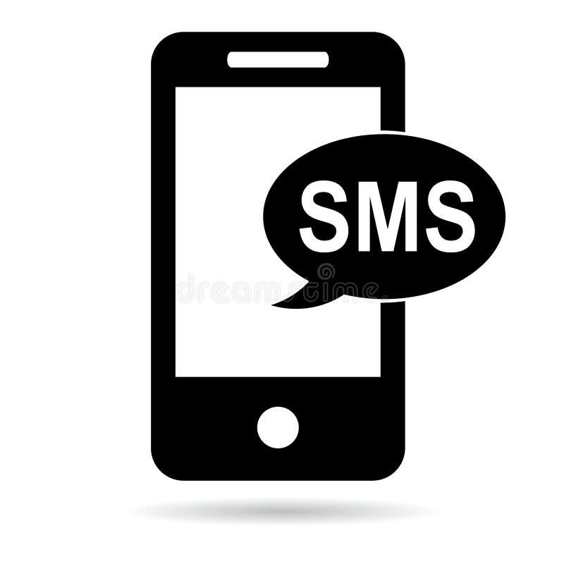 Sms-Ikonenschwarzes lizenzfreie abbildung