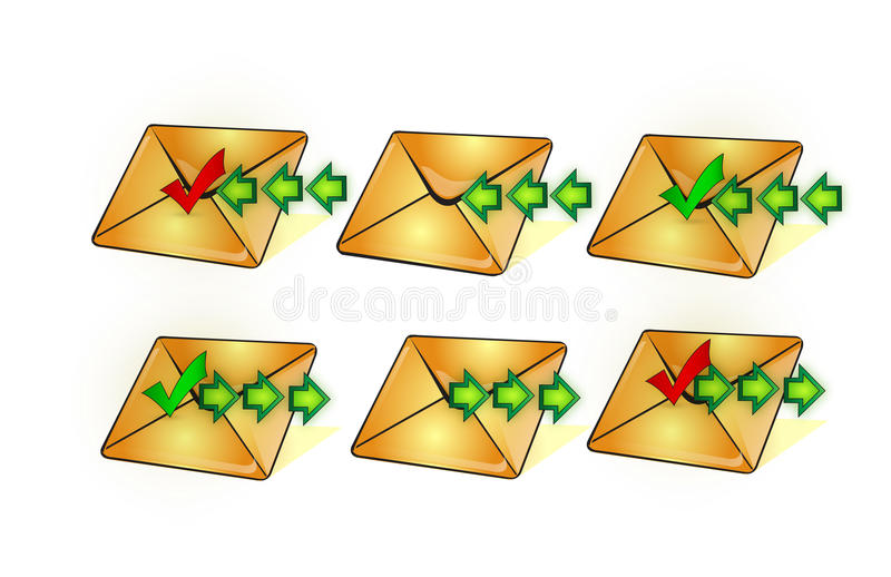 Download Sms mail  icon stock illustration. Image of page, open - 10691686