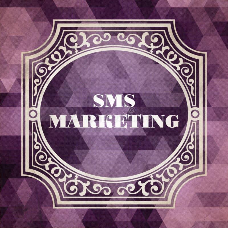 Sms-Marketing-Konzept. Weinlesedesign. lizenzfreie abbildung