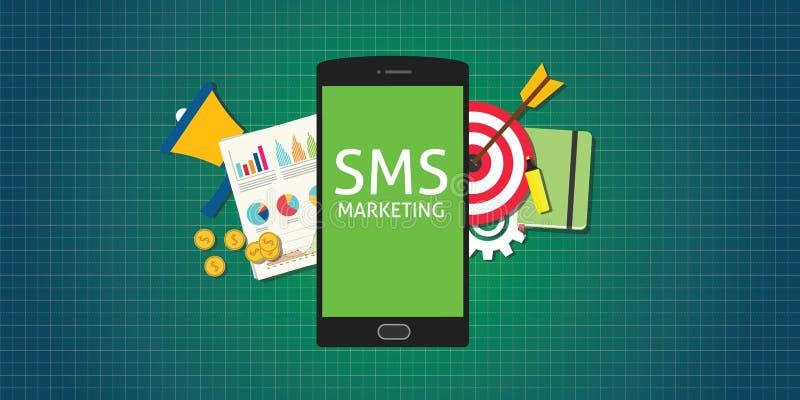 Sms marketing mobile phone smarthphone graph data money vector illustration