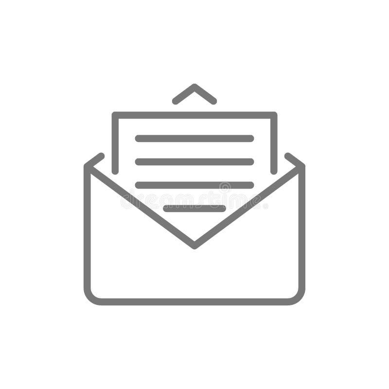 Sms, messaggio, linea icona del email royalty illustrazione gratis