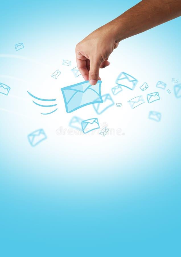 Download Sms sending stock illustration. Illustration of communication - 23997151