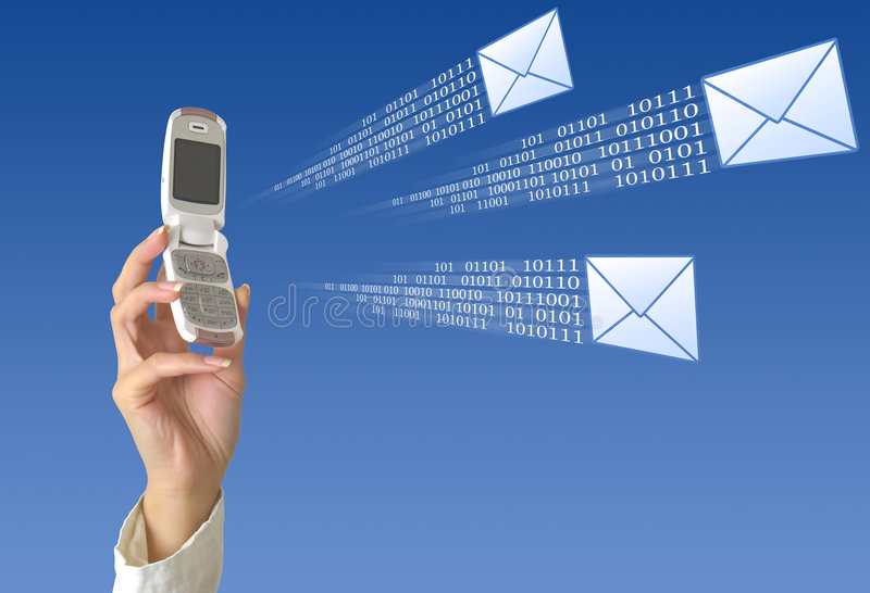 SMS sending royalty free stock photography