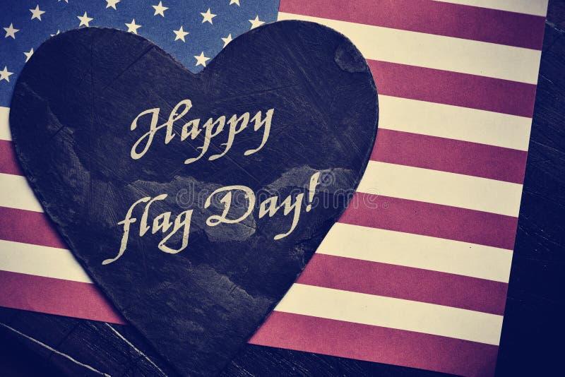 Smsa den lyckliga flaggmärkesdagen och flaggan av Förenta staterna royaltyfria bilder