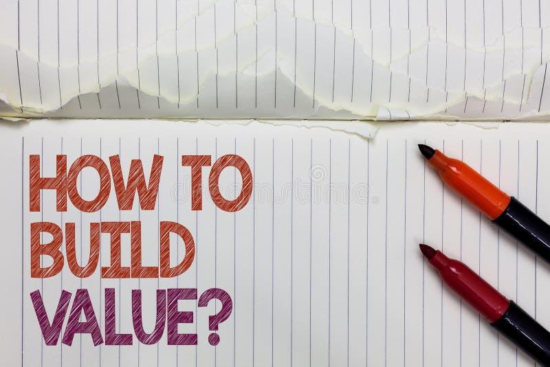 Smsa teckenvisningen hur man bygger värdefråga Begreppsmässiga fotovägar för att framkalla att växa bygga en affärsvit arkivfoto