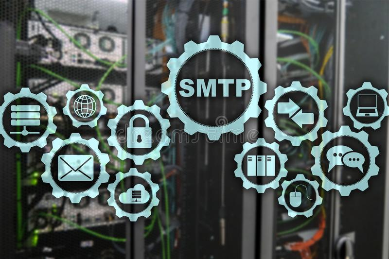 Smtp - Serverpost?bergangsprotokoll TCP-IP-Protokoll, das E-Mail sendet und empf?ngt Simple Mail Transfer Protocol stockfoto