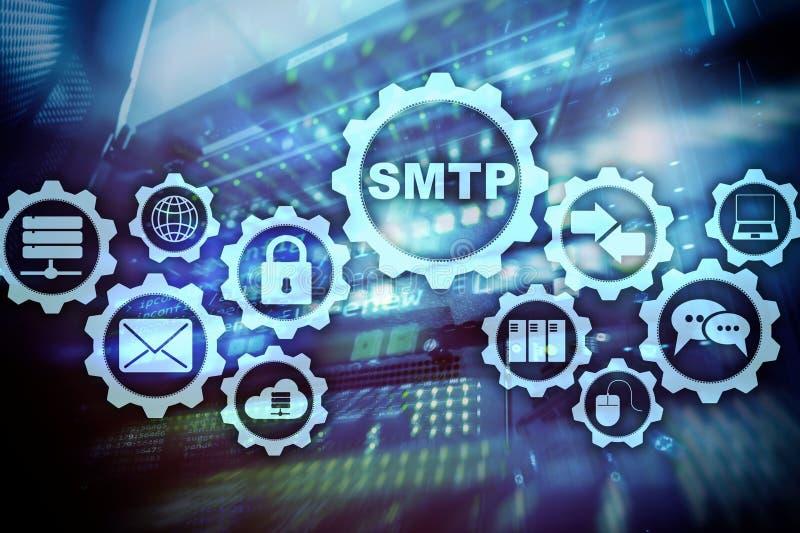 Smtp - serwer poczty przeniesienia protokół TCP IP protokołu dosłanie i odbiorczy email Prosty poczta przeniesienia protokół ilustracja wektor