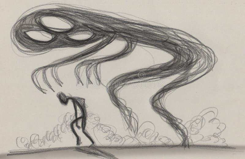 Smucenie depresji pojęcia ilustracja ilustracja wektor