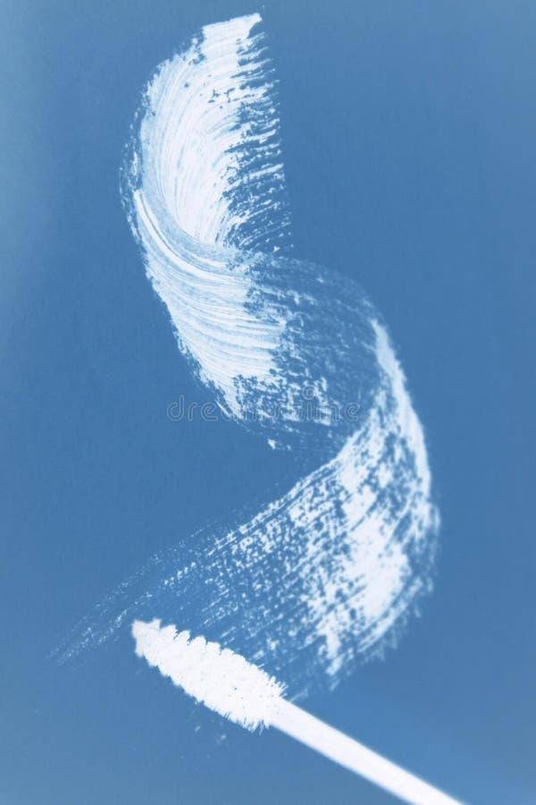 Smudge и щетка Mascara стоковое изображение rf