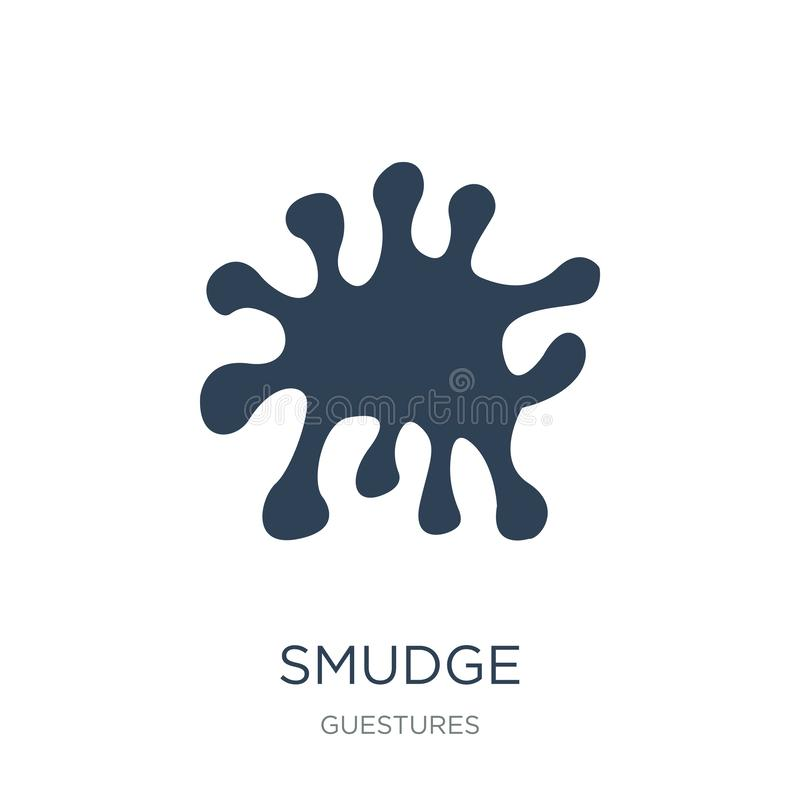 smudge icon in trendy design style. smudge icon isolated on white background. smudge vector icon simple and modern flat symbol for royalty free illustration