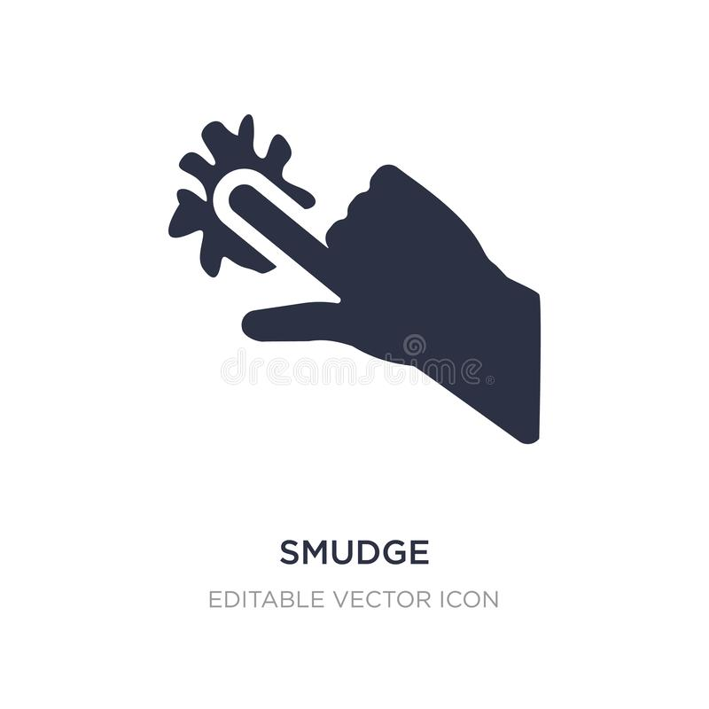 smudge icon on white background. Simple element illustration from Guestures concept stock illustration