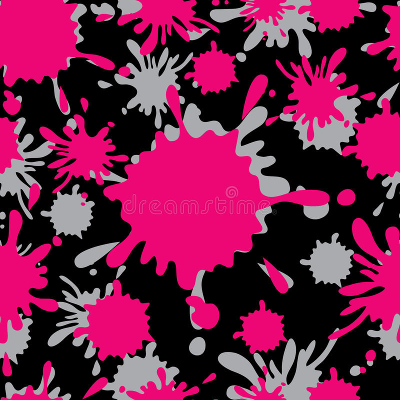Smudge seamless pattertn. Pink smudge seamless abstract pattertn vector illustration