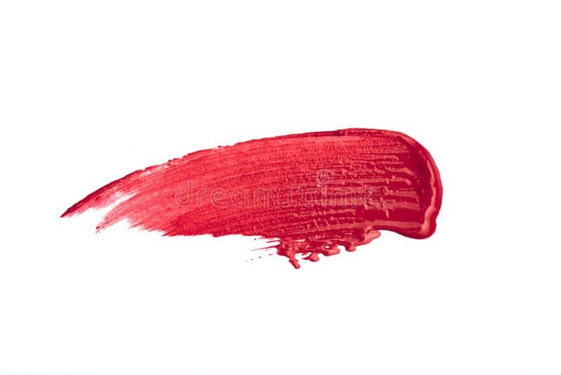 Smudged красная губная помада изолированная на белой предпосылке бесплатная иллюстрация