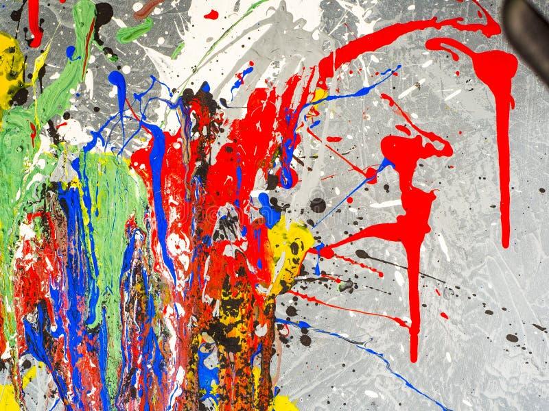 smudges χρωμάτων Χάος χρώματος Μικτά διαφορετικά χρώματα expressionism στοκ εικόνα