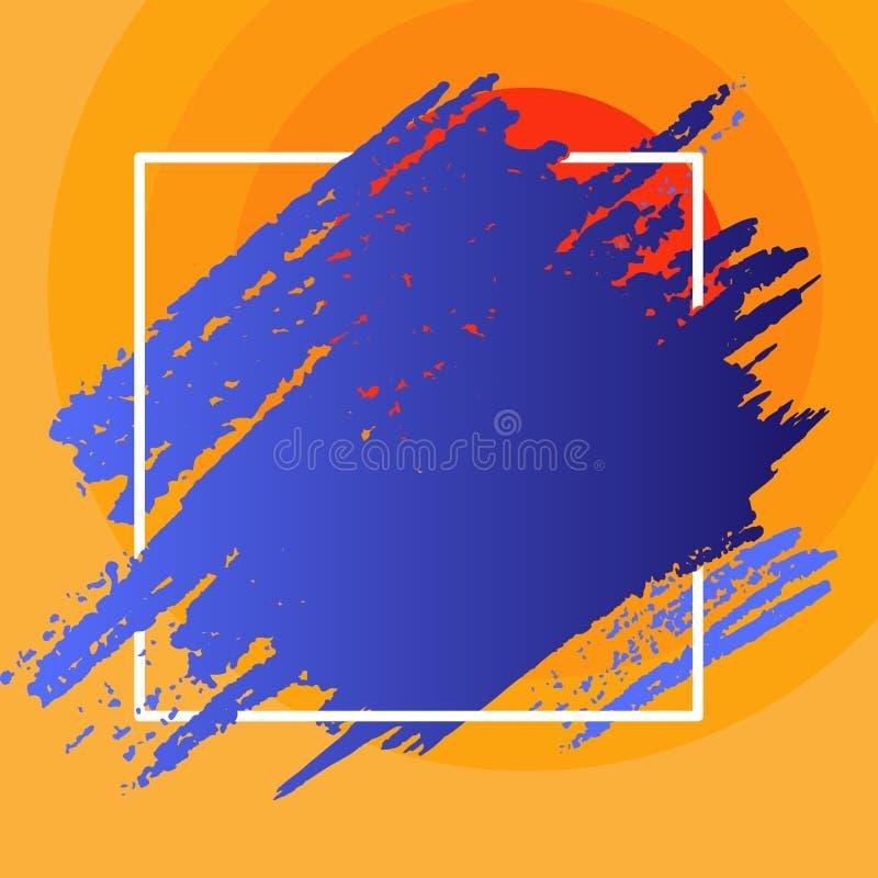 2 Smudges тона идя за квадратными линиями Царапина Марк проходя над и под планом Голубая краска смазала дальше бесплатная иллюстрация