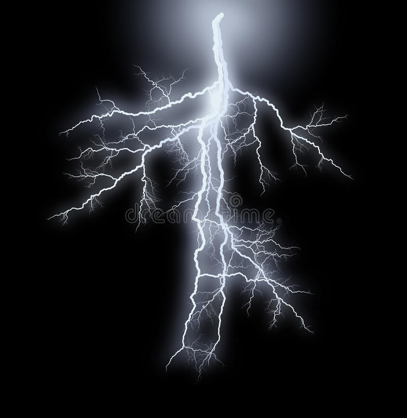 Smug błyskawicy - burza royalty ilustracja