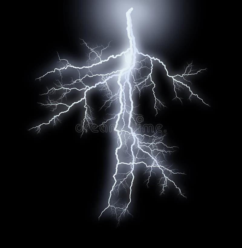 Smug błyskawicy - burza ilustracja wektor