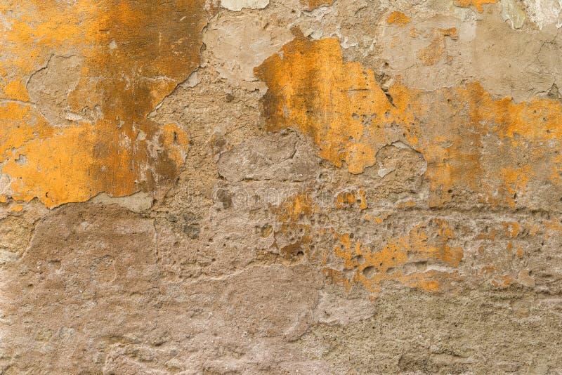 Smulad murbruk för gul brunt arkivbilder
