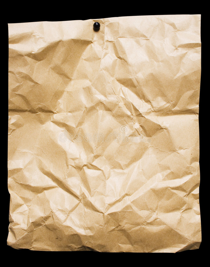 smulat emballagepapper arkivbild