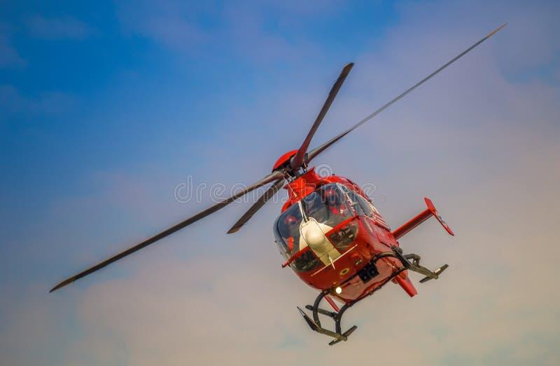 SMURD helikopter, Romani lotnicza karetka obrazy royalty free