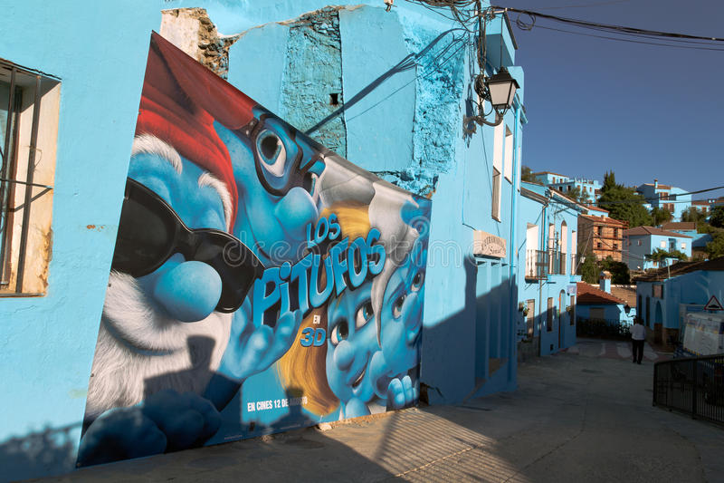Smurfs Filmplakat lizenzfreie stockbilder