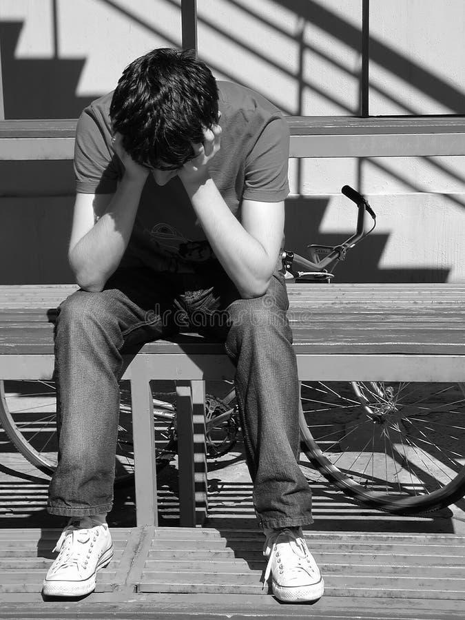 smutna chłopca zdjęcie stock