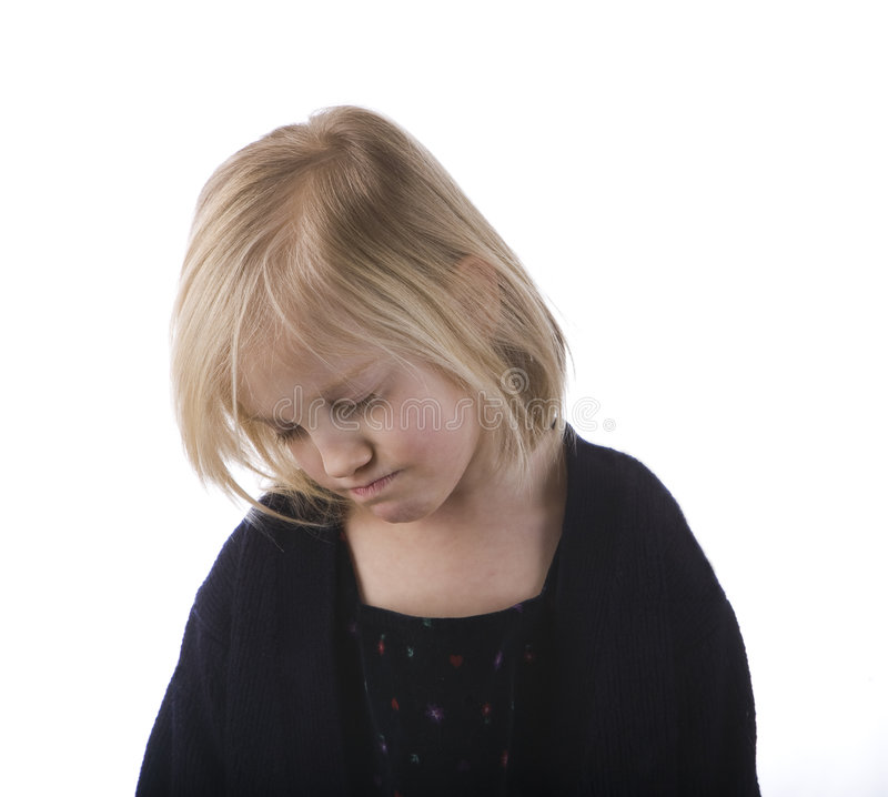 smutna dziecko czarny suknia zdjęcia royalty free