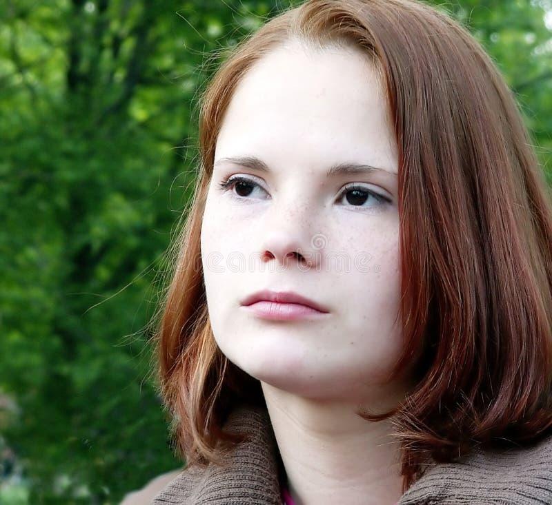 Download Smutna dziewczyna zdjęcie stock. Obraz złożonej z czerń - 141180