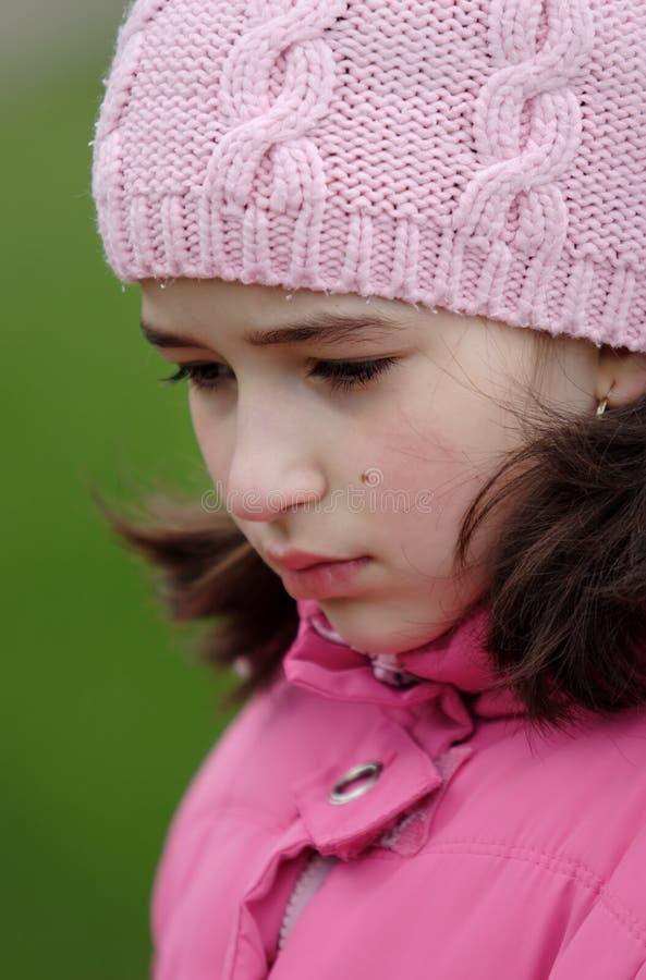 smutna dziewczyna obraz stock