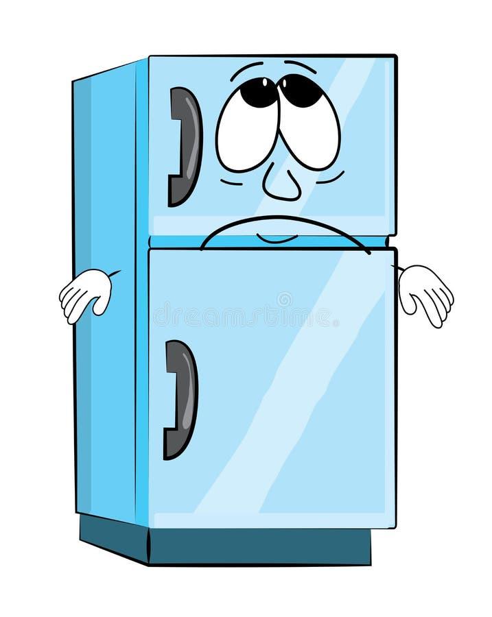 Smutna fridge kreskówka ilustracji