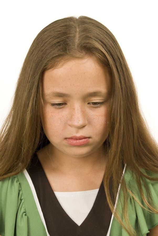 Smutna i Oklapnięta mała dziewczynka obrazy royalty free
