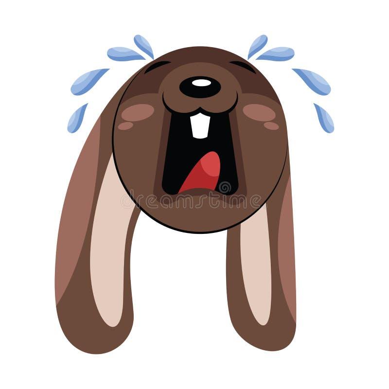 Smutna ilustracja wektora głowy brązowego psa ilustracja wektor