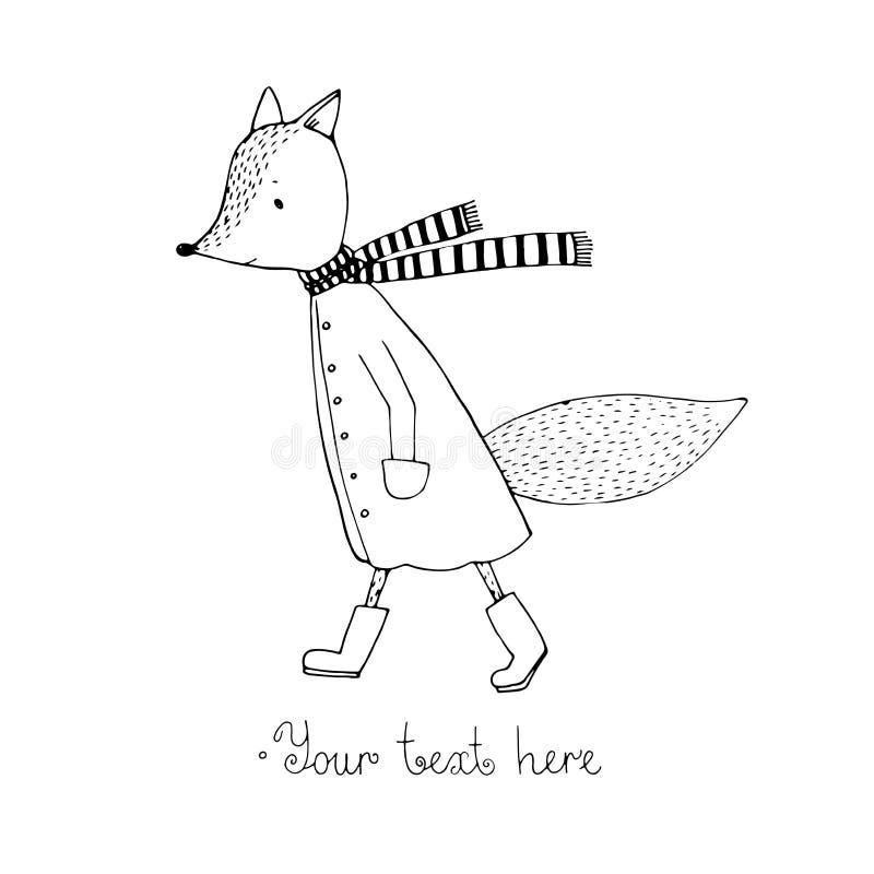 Smutna kreskówka Fox ilustracji