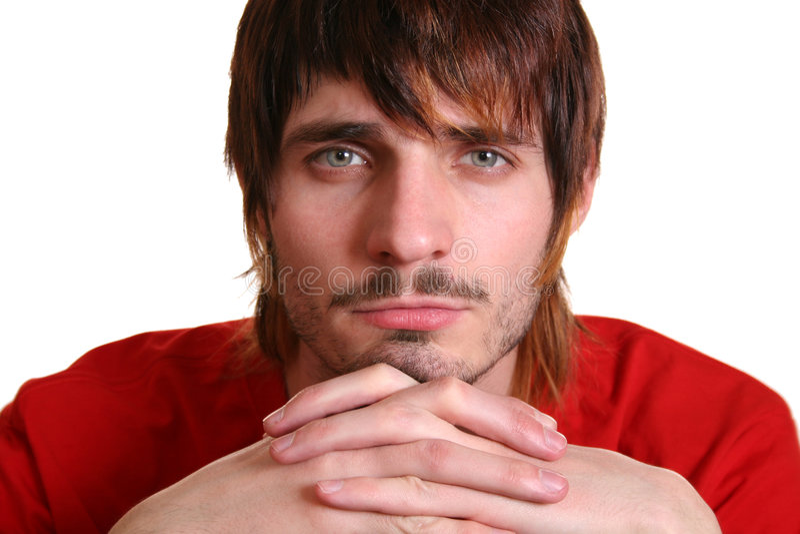 smutne beardman zdjęcie royalty free