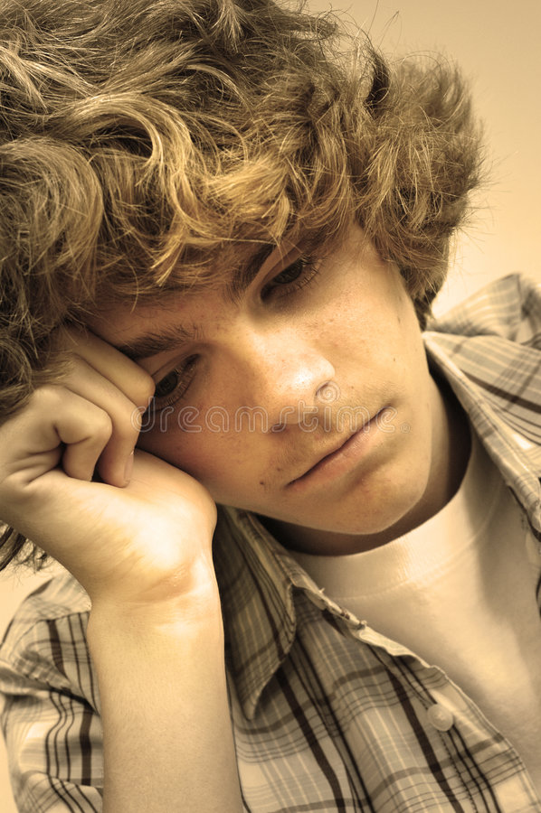 smutne nastolatków. fotografia stock