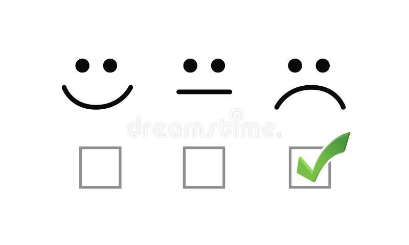 smutnego twarz czeka oceny wyboru opcj ilustracyjne grafika ilustracja wektor