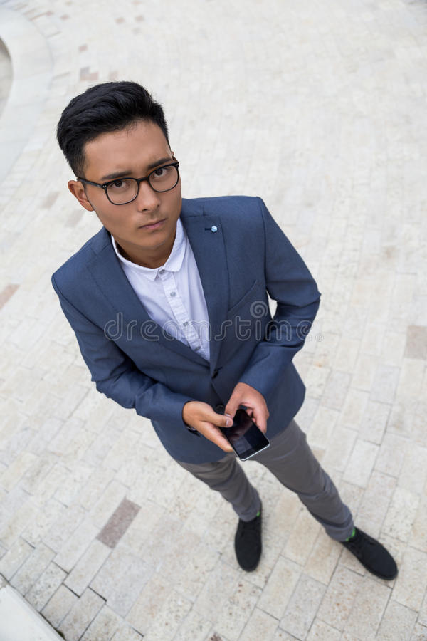 smutny azjatykci mężczyzna fotografia royalty free