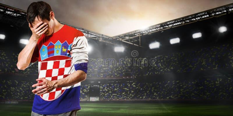 Smutny Chorwacja gracz obraz royalty free