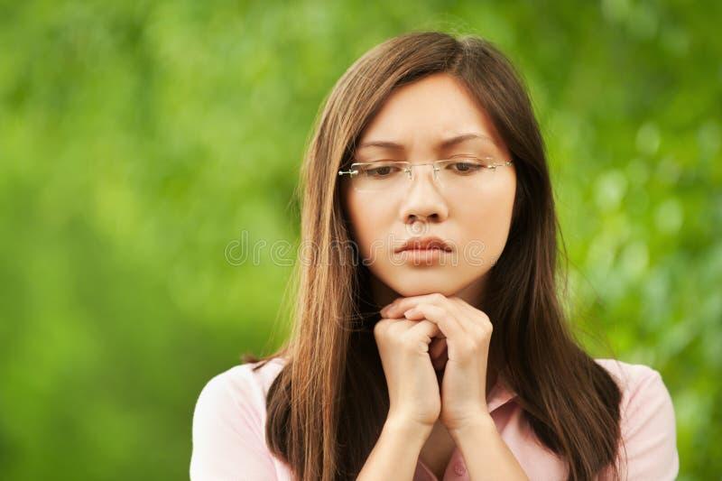 smutny dziewczyna azjatykci portret zdjęcia stock