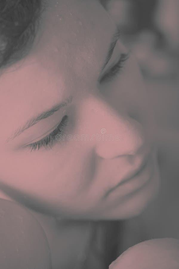smutny dziewczyna portret fotografia royalty free