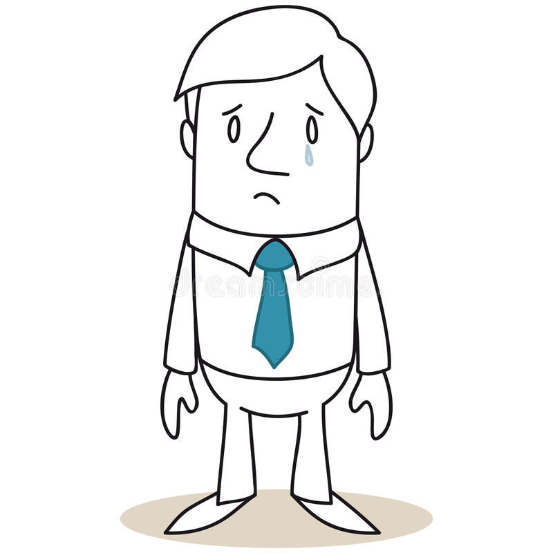 Smutny i płacz biznesmen royalty ilustracja