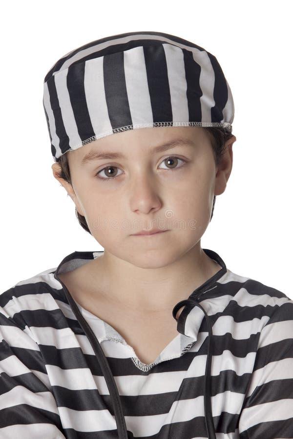 Download Smutny Kostiumowy Dziecko Więzień Zdjęcie Stock - Obraz złożonej z rozpaczający, nadzieja: 13333996