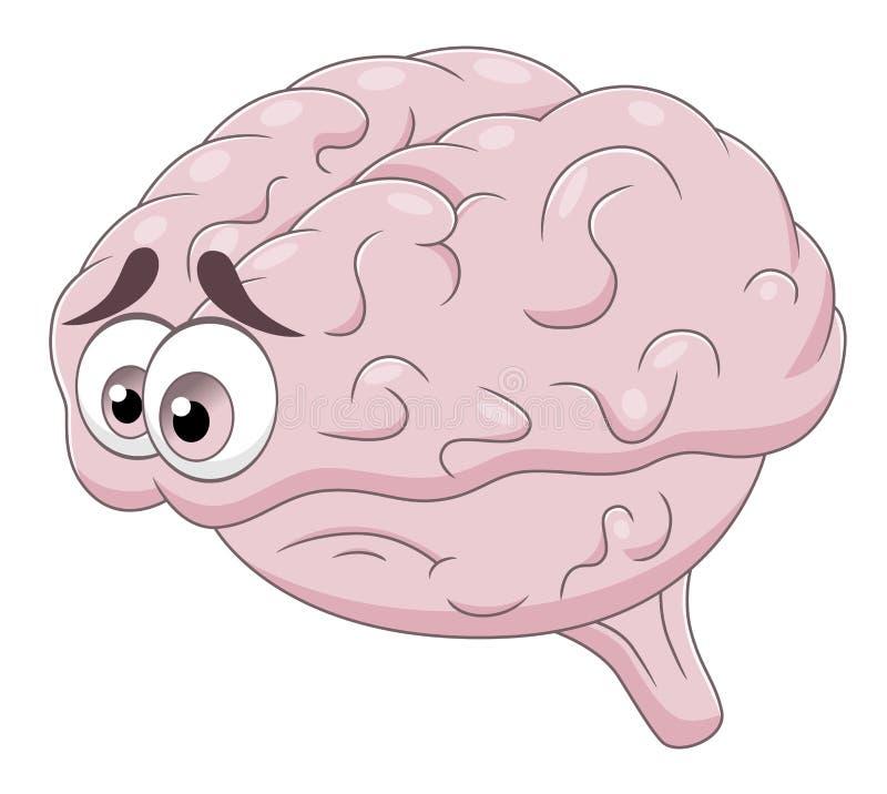 Smutny mózg ilustracja wektor